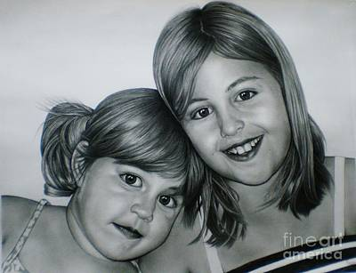 Drawing - Graphite Portrait by Paula Ludovino