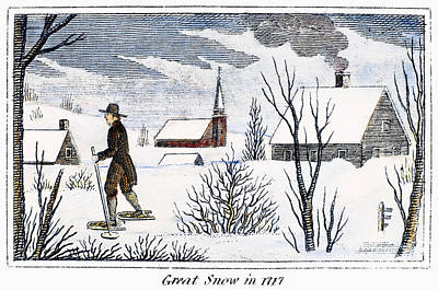 Great Snow Of 1717 Art Print by Granger