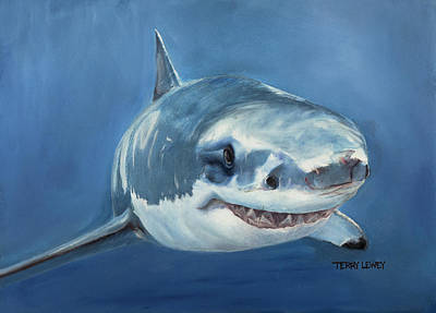 Deepsea Painting - Great White by Terry Lewey