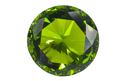 Green Gem Isolated Art Print