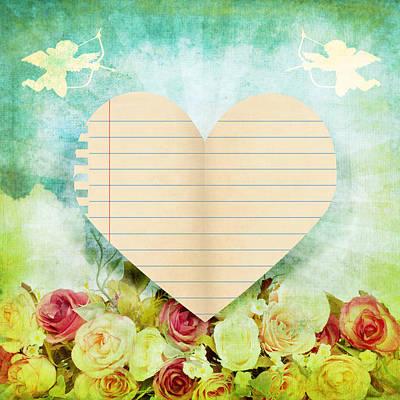 greeting card Valentine day Art Print by Setsiri Silapasuwanchai
