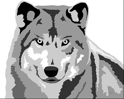 Wolve Drawing - Grey Wolf by Paul Dunkel