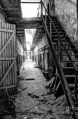 Chipping Paint Photograph - Grim Cell Block In Philadelphia Eastern State Penitentiary by Gary Whitton