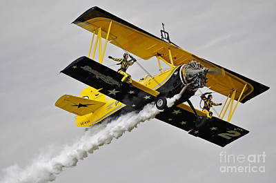 Grumman Ag 164 Wingwalker Art Print by Conny Sjostrom