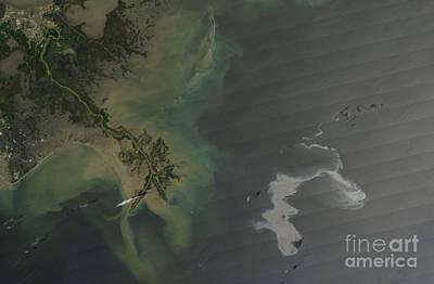 Gulf Oil Spill, April 2010 Print by Nasa