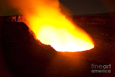 Photograph - Halemaumau Crater Of Kilauea Volcano by Fahad Sulehria