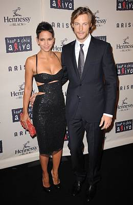 Halle Berry Photograph - Halle Berry, Gabriel Aubry At Arrivals by Everett