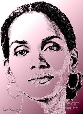 Halle Berry In 2008 Art Print by J McCombie