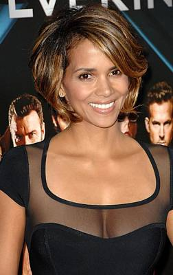 Halle Berry Wearing A Herve Leroux Art Print by Everett