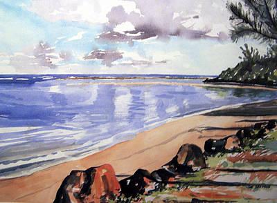 Hanalei Bay Art Print by Jon Shepodd