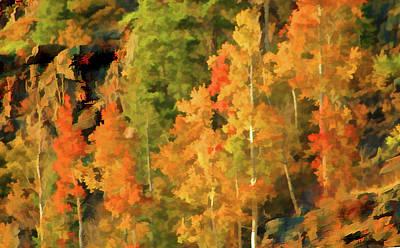 Digital Art - Hang Gliding The Autumn Colors by Gary Baird
