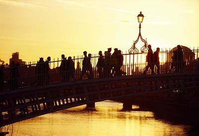 Hapenny Photograph - Hapenny Bridge, Dublin, Co Dublin by The Irish Image Collection