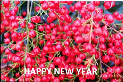 Photograph - Happy New Year - Card by Rod Ismay