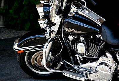 Harley Davidson  Art Print by Karen Scovill