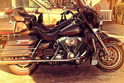 Photograph - Harley-davidson Motorcycle . 7d10793 by Wingsdomain Art and Photography