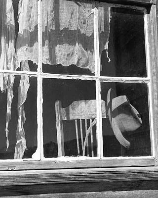 Photograph - Hat And Chair In Window by Joe  Palermo