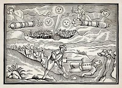 Hatford Meteor Fall, 1628 Art Print by Detlev Van Ravenswaay