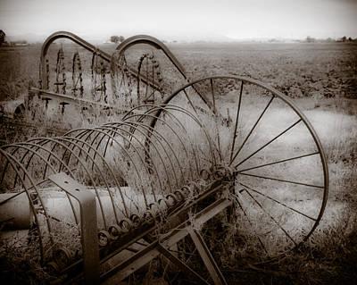 Antique Hay Rake Photograph - Hay Rakes San Joaquin County Ca by Troy Montemayor