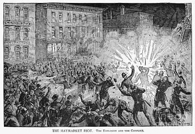 Haymarket Riot, 1886 Art Print by Granger