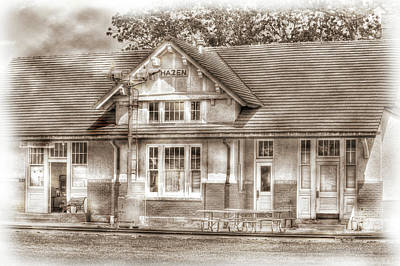 Photograph - Hazen Train Depot by Barry Jones