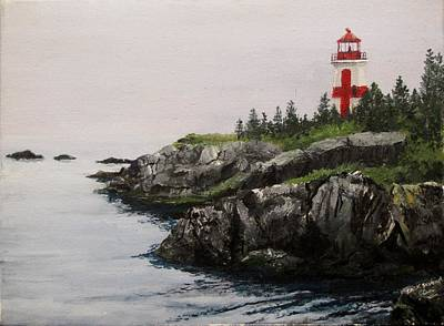 East Quoddy Lighthouse Painting - Head Harbour Lighthouse by Jack Skinner