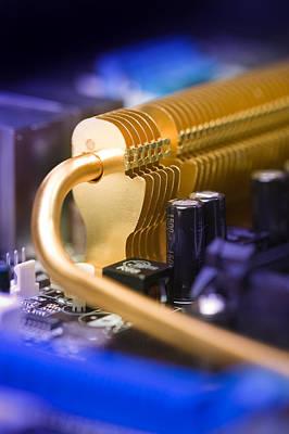 Processor Photograph - Heat Sink by Paul Rapson