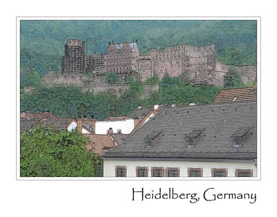 Digital Art - Heidelberg Castle In Germany by Brandon Bourdages
