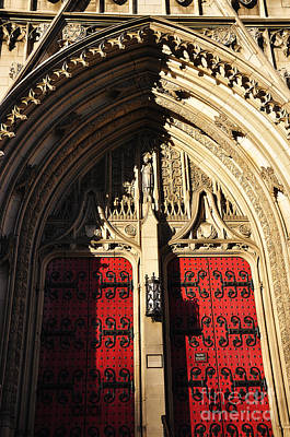 Heinz Chapel Doors Art Print by Thomas R Fletcher