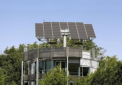 Heliotrope Solar House Art Print by Martin Bond