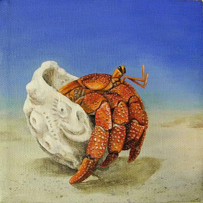 Hermit Crab Art Print by Cindy D Chinn