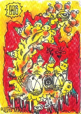 Contemporary Abstract Drawing - Hi by Robert Wolverton Jr