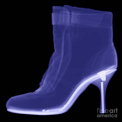 High Heel Boot X-ray Art Print by Ted Kinsman