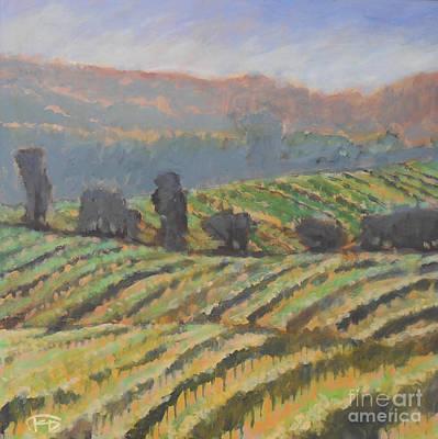 Napa Valley Vineyard Painting - Hillside Vineyard by Kip Decker