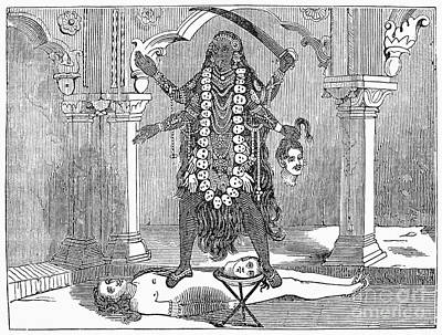 Kali Photograph - Hindu Goddess: Kali by Granger