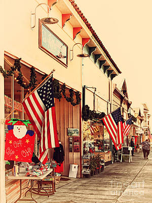 Photograph - Historic Niles District In California Near Fremont . Main Street . Niles Boulevard . 7d10693 by Wingsdomain Art and Photography