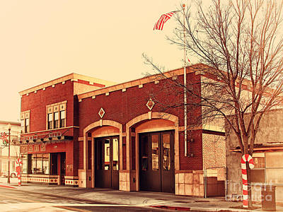 Photograph - Historic Niles District In California Near Fremont . Niles Fire Station Number 2 . 7d10732 by Wingsdomain Art and Photography