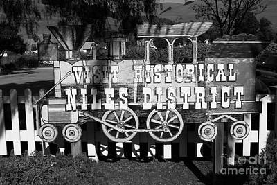 Historic Niles District In California Near Fremont . Visit Historical Niles District Sign . 7d10653  Art Print