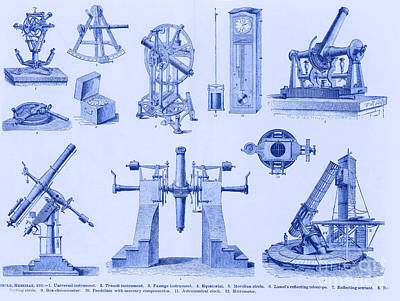 Photograph - Historical Astronomy Instruments by Science Source