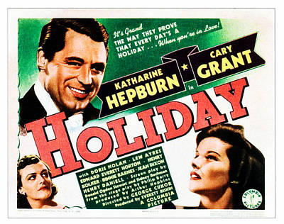 Films By George Cukor Photograph - Holiday, Cary Grant, Katharine Hepburn by Everett