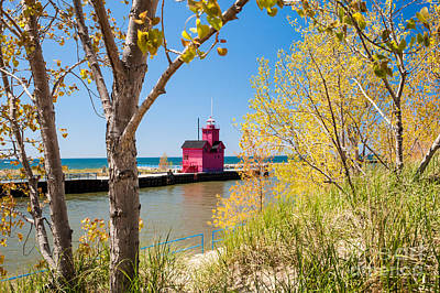 Photograph - Holland Mi Lighthouse by Larry Carr