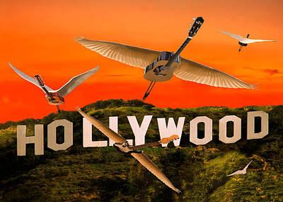 Digital Art - Hollywood Rocks by Eric Kempson