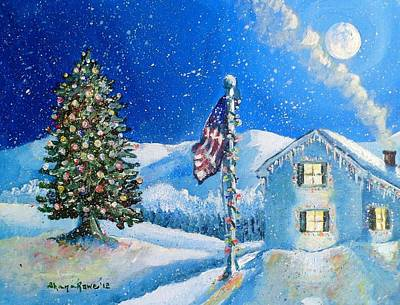Home For The Holidays Art Print by Shana Rowe Jackson