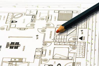 Home Plans Art Print by Soultana Koleska