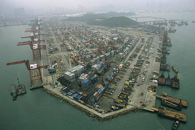Etc. Photograph - Hong Kong Cargo Terminal, One by Justin Guariglia