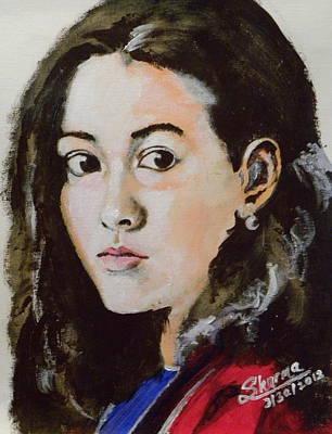 Acrylic Portrait Painting - Hope by Shirish Sharma