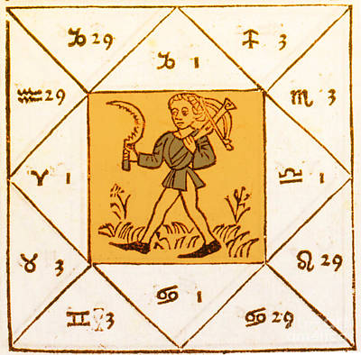 Horoscope Types, Engel, 1488 Art Print by Science Source