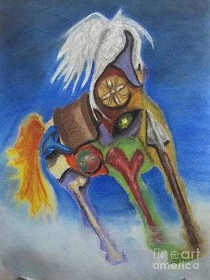 Horse Anatomy Art Print by Safa Al-Rubaye