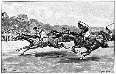 Horse Racing, 1900 Art Print by Granger
