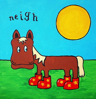 Painting - Horse by Sheep McTavish