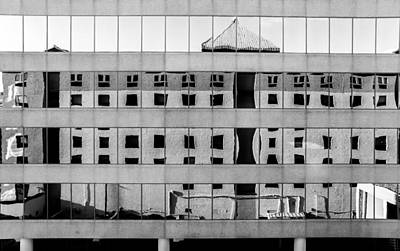Photograph - Hotel Reflected by Gene Hilton